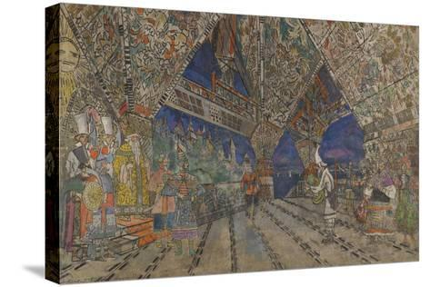 Stage Design for the Opera the Golden Cockerel by N. Rimsky-Korsakov-Konstantin Alexeyevich Korovin-Stretched Canvas Print