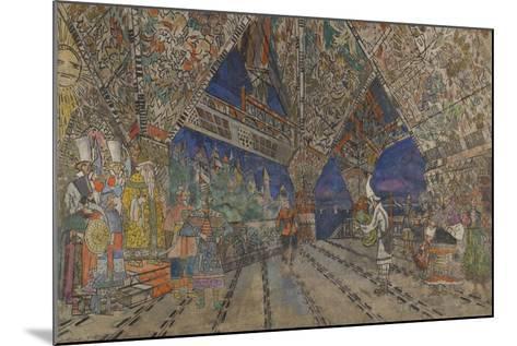Stage Design for the Opera the Golden Cockerel by N. Rimsky-Korsakov-Konstantin Alexeyevich Korovin-Mounted Giclee Print