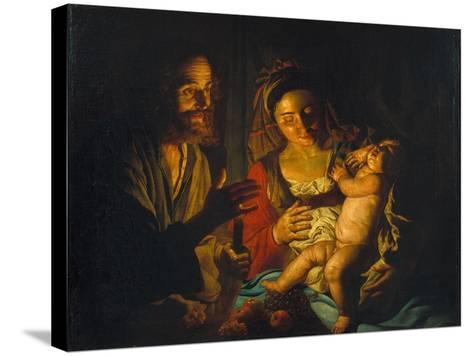The Holy Family-Matthias Stomer-Stretched Canvas Print