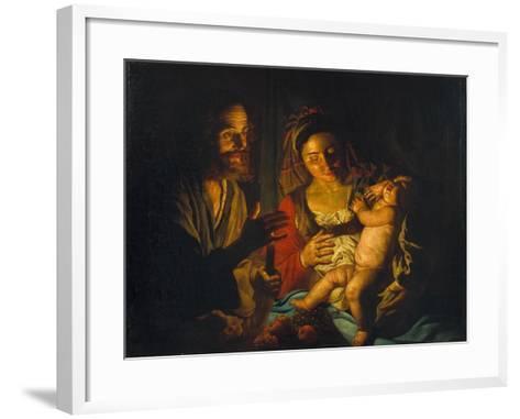 The Holy Family-Matthias Stomer-Framed Art Print