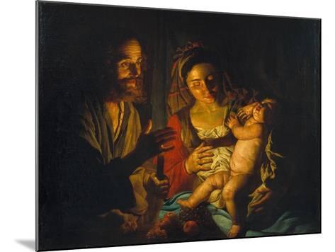 The Holy Family-Matthias Stomer-Mounted Giclee Print