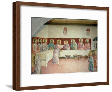 The Holy Communion and the Last Supper-Fra Angelico-Framed Art Print