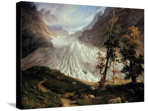 The Lower Grindelwald Glacier-Thomas Fearnley-Stretched Canvas Print