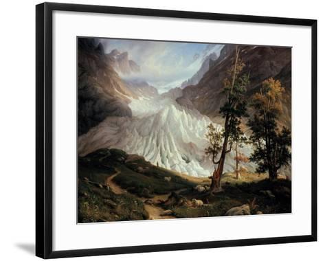 The Lower Grindelwald Glacier-Thomas Fearnley-Framed Art Print