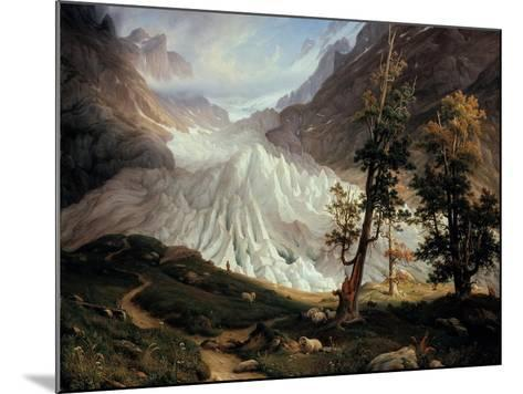 The Lower Grindelwald Glacier-Thomas Fearnley-Mounted Giclee Print