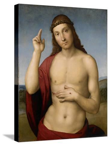 Christ Blessing-Raphael-Stretched Canvas Print