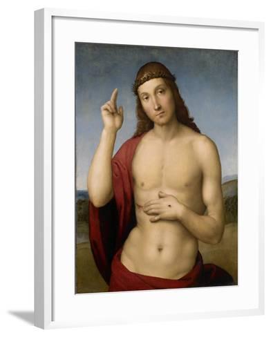 Christ Blessing-Raphael-Framed Art Print