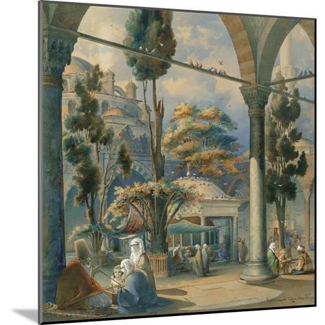 Courtyard of the Sultan Bayezid Mosque in Constantinople-Amedeo Preziosi-Mounted Giclee Print