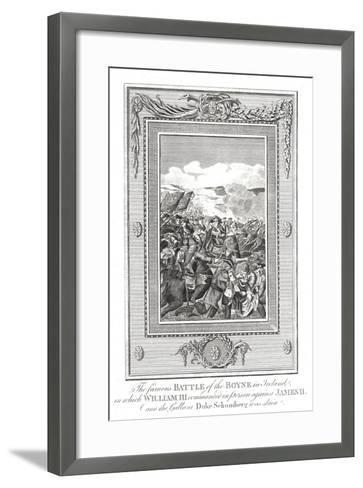 Battle of the Boyne, 1690--Framed Art Print