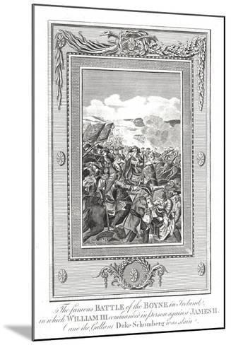 Battle of the Boyne, 1690--Mounted Giclee Print