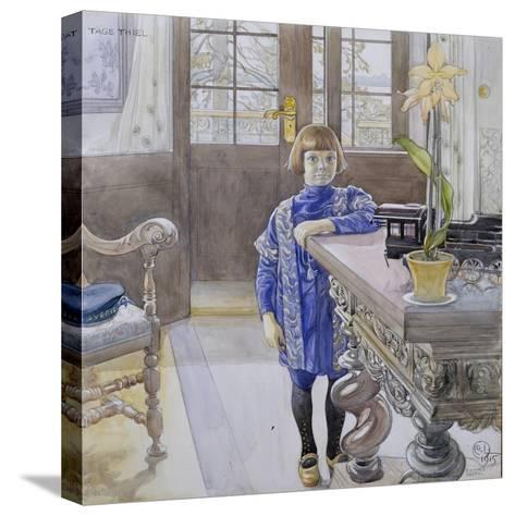 Portrait of Tage Thiel-Carl Larsson-Stretched Canvas Print