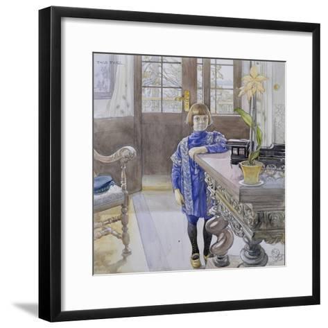 Portrait of Tage Thiel-Carl Larsson-Framed Art Print