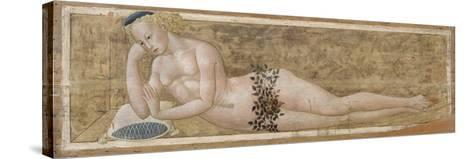 Reclining Young Man-Giovanni Di Ser Giovanni-Stretched Canvas Print