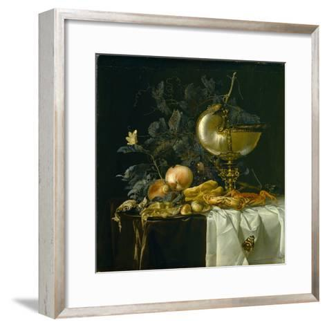 Still-Life with Nautilus Cup-Willem van Aelst-Framed Art Print
