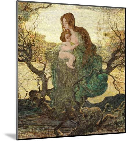 The Angel of Life-Giovanni Segantini-Mounted Giclee Print