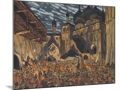 Stage Design for the Opera the Maid of Pskov by N. Rimsky-Korsakov-Alexander Yakovlevich Golovin-Mounted Giclee Print