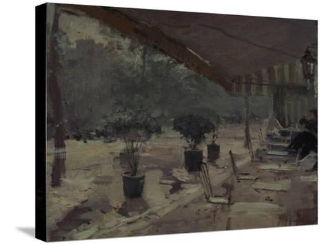 Café in Paris, 1890S-Konstantin Alexeyevich Korovin-Stretched Canvas Print