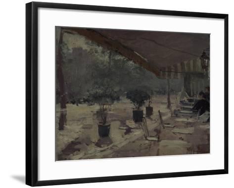 Café in Paris, 1890S-Konstantin Alexeyevich Korovin-Framed Art Print