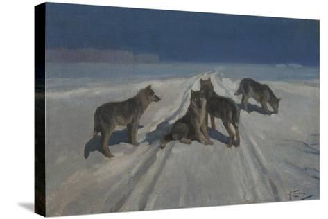 Wolves-Alexei Stepanovich Stepanov-Stretched Canvas Print