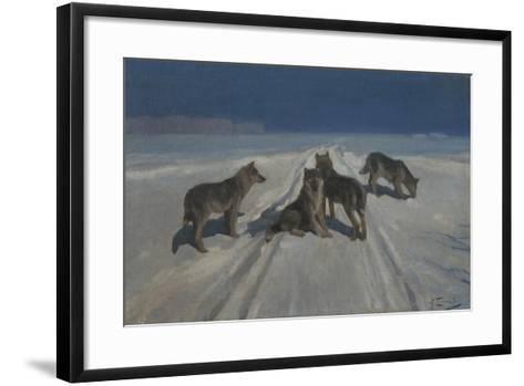 Wolves-Alexei Stepanovich Stepanov-Framed Art Print