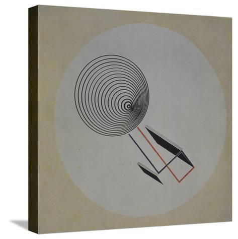 Proun 93. Floating Spiral, 1924-El Lissitzky-Stretched Canvas Print
