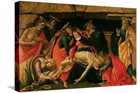 Lamentation over the Dead Christ-Sandro Botticelli-Stretched Canvas Print