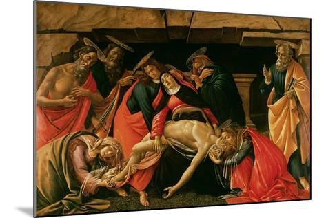 Lamentation over the Dead Christ-Sandro Botticelli-Mounted Giclee Print