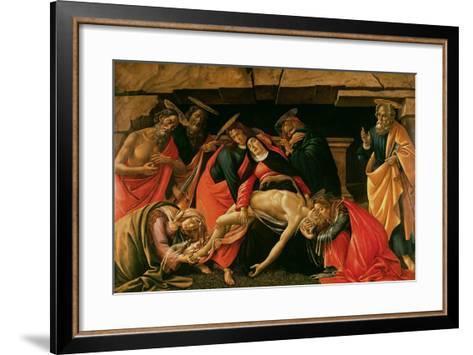 Lamentation over the Dead Christ-Sandro Botticelli-Framed Art Print