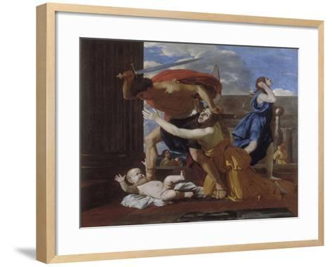 The Massacre of the Innocents-Nicolas Poussin-Framed Art Print