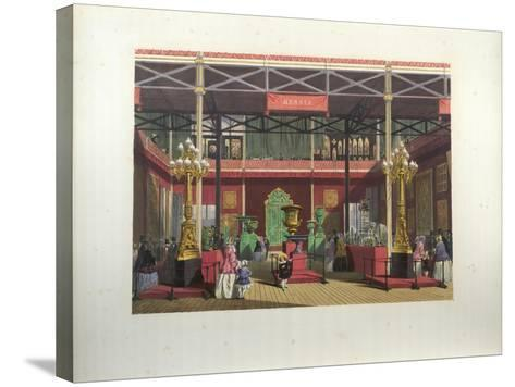 Russian Exhibition Interior During the Great Exhibition in 1851-Joseph Nash-Stretched Canvas Print