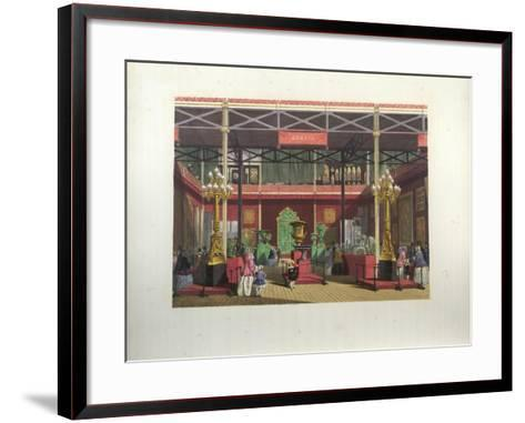 Russian Exhibition Interior During the Great Exhibition in 1851-Joseph Nash-Framed Art Print