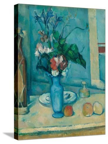 The Blue Vase (Le Vase Ble)-Paul C?zanne-Stretched Canvas Print
