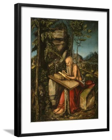 Saint Jerome in a Rocky Landscape-Lucas Cranach the Elder-Framed Art Print