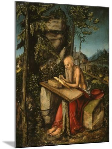 Saint Jerome in a Rocky Landscape-Lucas Cranach the Elder-Mounted Giclee Print