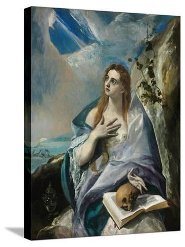 The Repentant Mary Magdalene-El Greco-Stretched Canvas Print