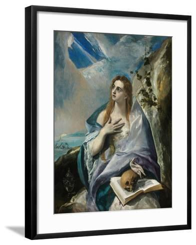 The Repentant Mary Magdalene-El Greco-Framed Art Print