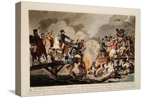 French Army Crossing the Berezina in November 1812, 1813-John Hassell-Stretched Canvas Print