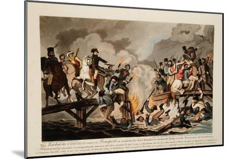French Army Crossing the Berezina in November 1812, 1813-John Hassell-Mounted Giclee Print