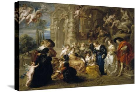 The Garden of Love, C. 1633-Peter Paul Rubens-Stretched Canvas Print