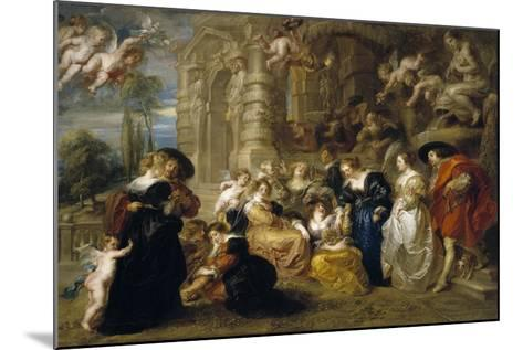The Garden of Love, C. 1633-Peter Paul Rubens-Mounted Giclee Print