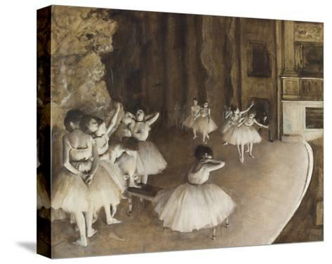 Rehearsal on the Stage, 1874-Edgar Degas-Stretched Canvas Print