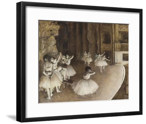 Rehearsal on the Stage, 1874-Edgar Degas-Framed Art Print