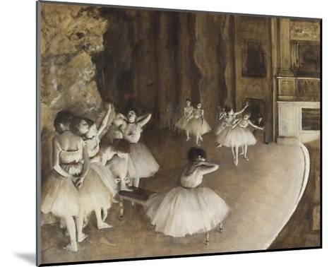 Rehearsal on the Stage, 1874-Edgar Degas-Mounted Giclee Print