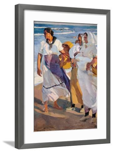Fisherwomen from Valencia-Joaqu?n Sorolla y Bastida-Framed Art Print