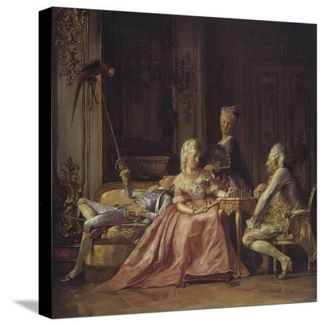 Scene from the Court of Christian VII-Kristian Zahrtmann-Stretched Canvas Print