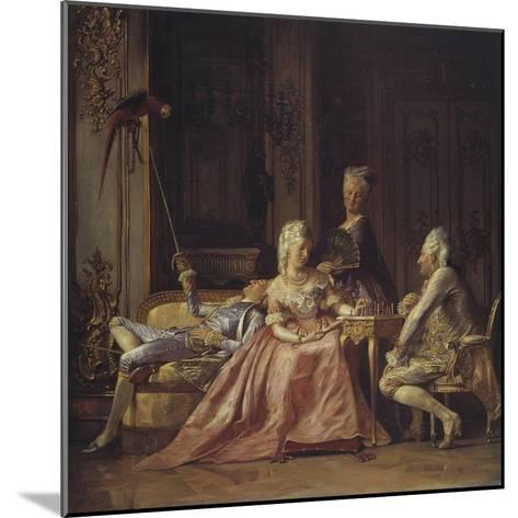 Scene from the Court of Christian VII-Kristian Zahrtmann-Mounted Giclee Print
