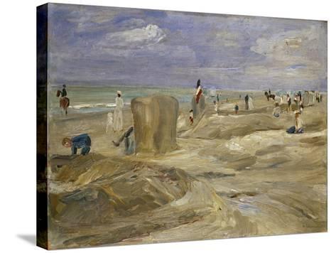 Beach at Noordwijk-Max Liebermann-Stretched Canvas Print