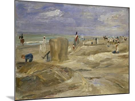 Beach at Noordwijk-Max Liebermann-Mounted Giclee Print