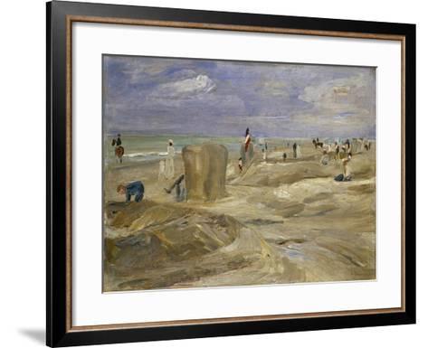 Beach at Noordwijk-Max Liebermann-Framed Art Print