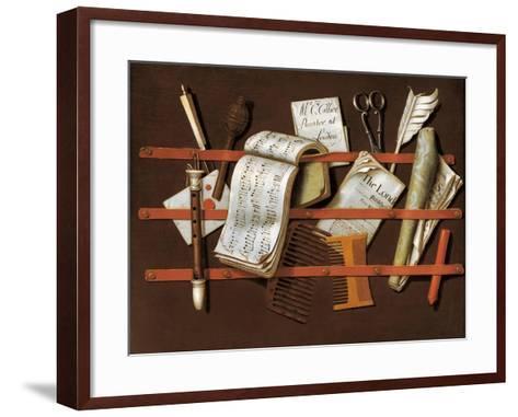 Letter Rack, Ca 1698-Edward Collier-Framed Art Print